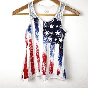 Justice | Patriotic Flag Sequin Girls Tank Top 10